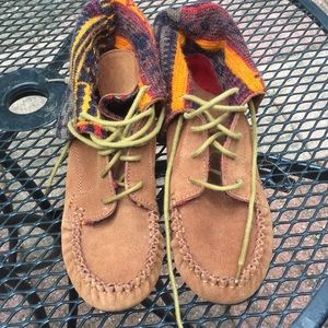 America Rag brown leather Aztec Indian  boot sz7